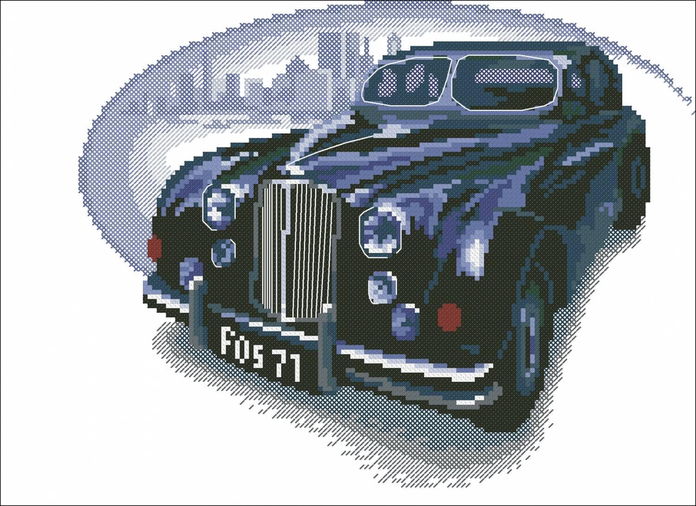 Автомобили ретро вышивка крестом схемы 42