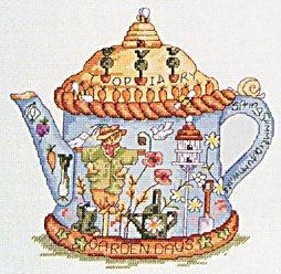Вышивка схемы чайники