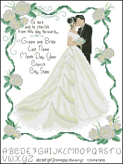 вышивки Свадьба - Схемы